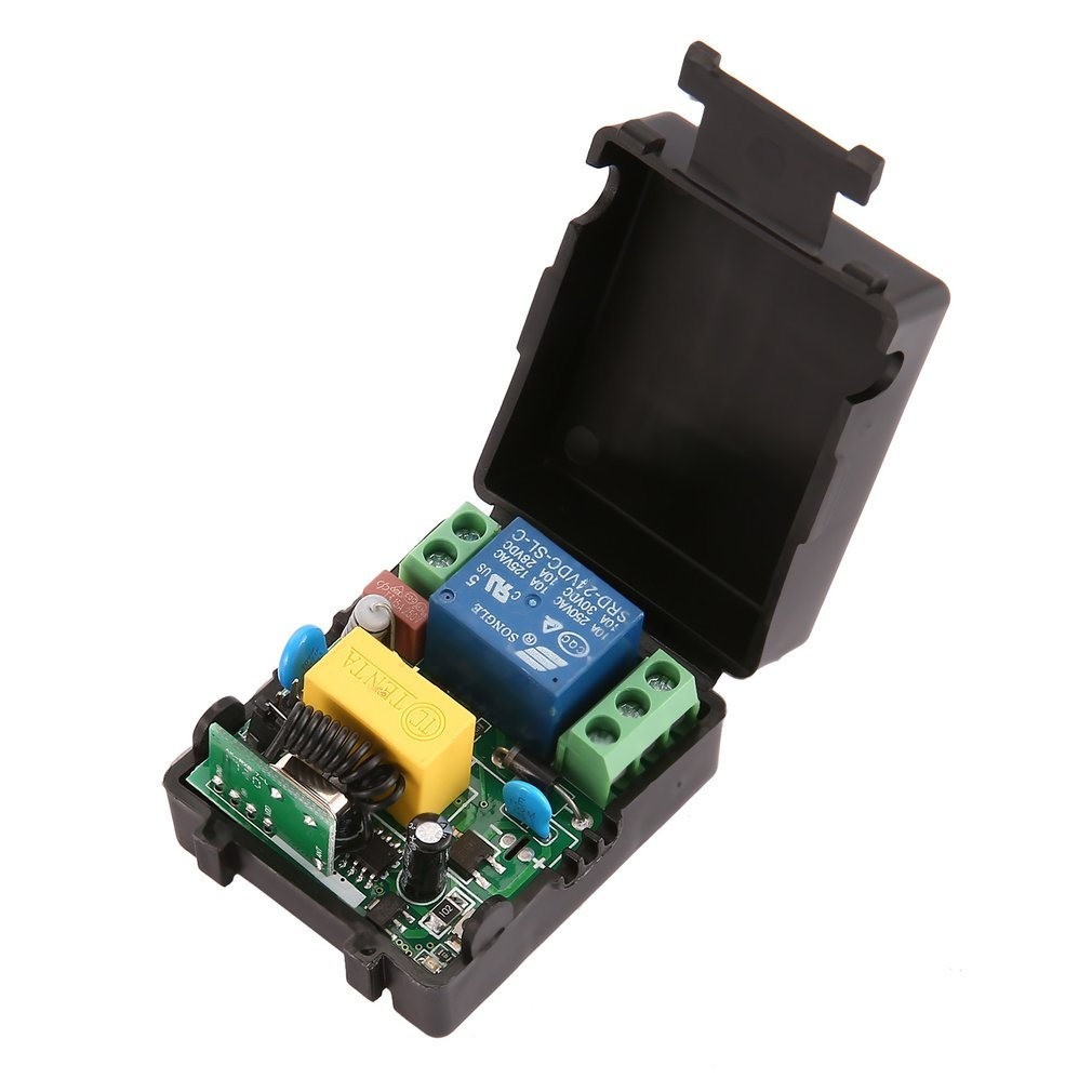 Remote Control Switch Dc 12v 10a 433mhz Transmitter With Receiver Circuit