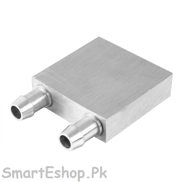 40*40MM PRIMARY ALUMINUM WATER COOLING BLOCK FOR LIQUID WATER COOLER HEAT  SINK SYSTEM SILVER USE FOR PC,LAPTOP CPU,PELTIER