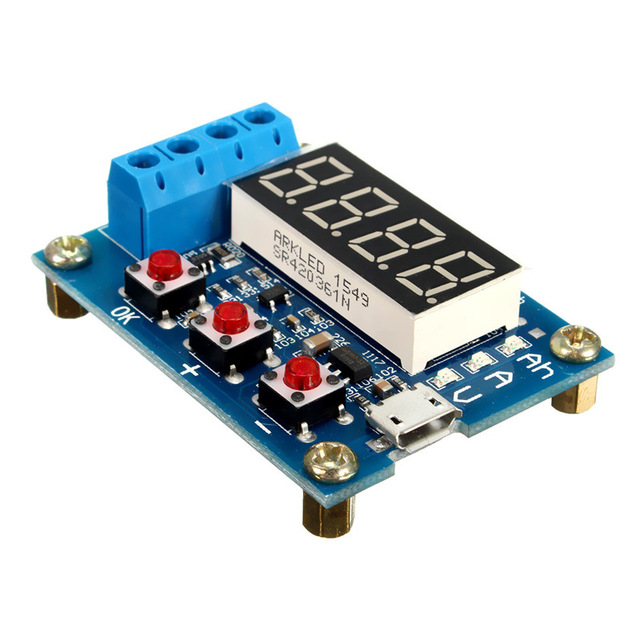 1 2v 12v 18650 Li Ion Lithium Battery Capacity Tester