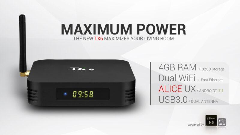 TANIX TX6 - Android TV Box - Allwinner H6 - 4GB RAM+32GB ROM